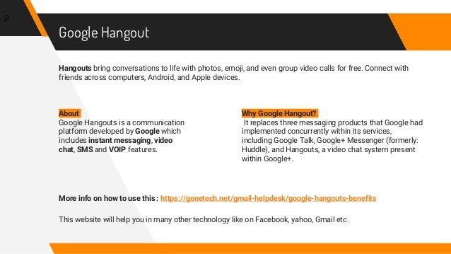 Do You Know The Benefits Of Google Hangout| +1-844-773-9313