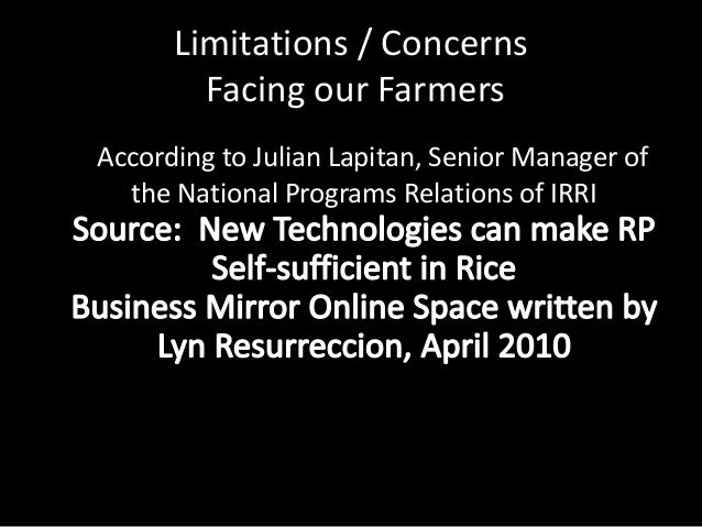 In some cases landlord owns thethreshing and milling       facilitiesSource: Philippine Institute for Development Studies ...