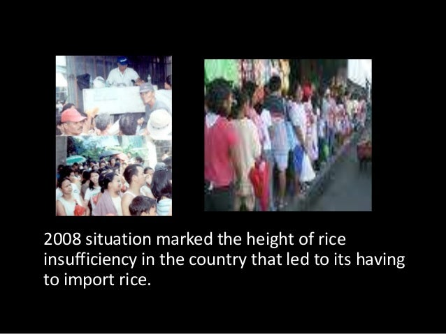 To fill food security requirement based on the   countrys daily rice consumption rate of                 726,000 bags.