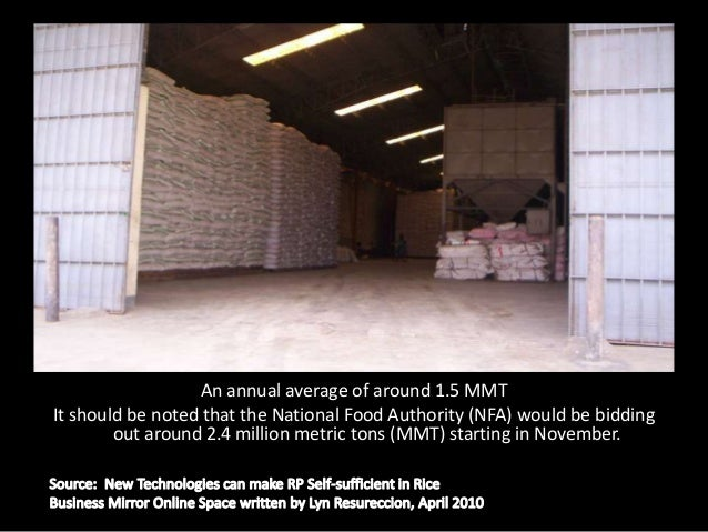 Making the Philippines as one of the top   importers of rice in the world.