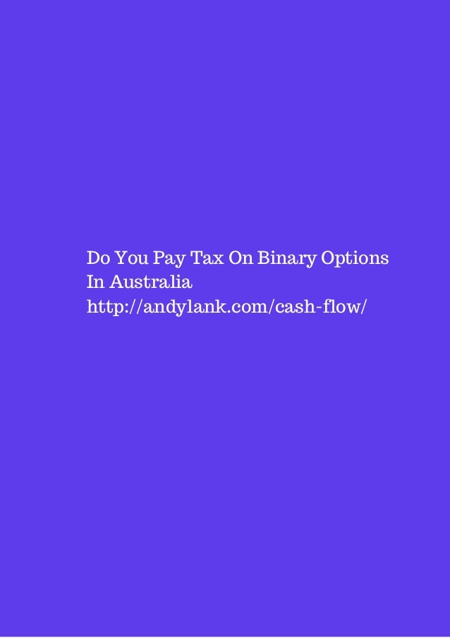 Binary options income tax
