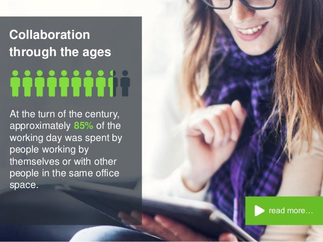 Collaboration through the ages read more… At the turn of the century, approximately 85% of the working day was spent by pe...