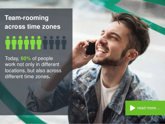 Team-rooming across time zones read more… Today, 60% of people work not only in different locations, but also across diffe...