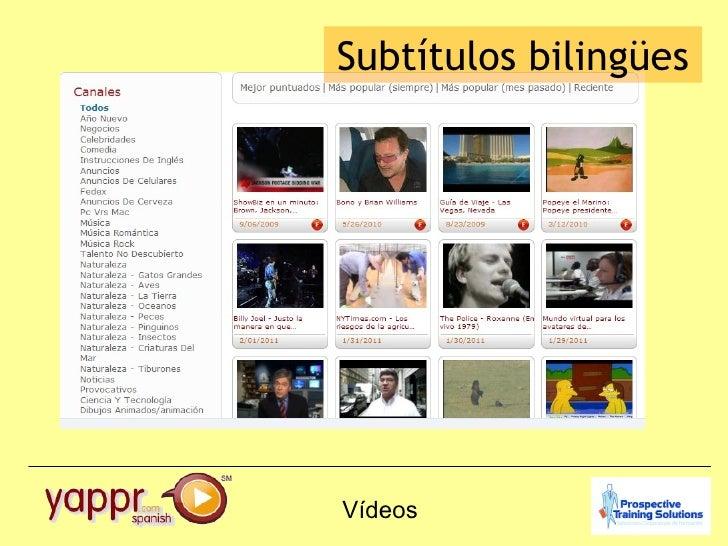 Vídeos Subtítulos bilingües