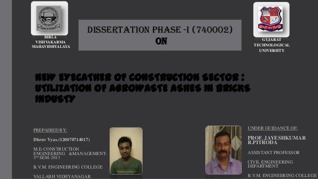 BIRLA VISHVAKARMA MAHAVIDHYALAYA  Dissertation Phase -I (740002) ON  GUJARAT TECHNOLOGICAL UNIVERSITY  NEW EYECATHER OF CO...