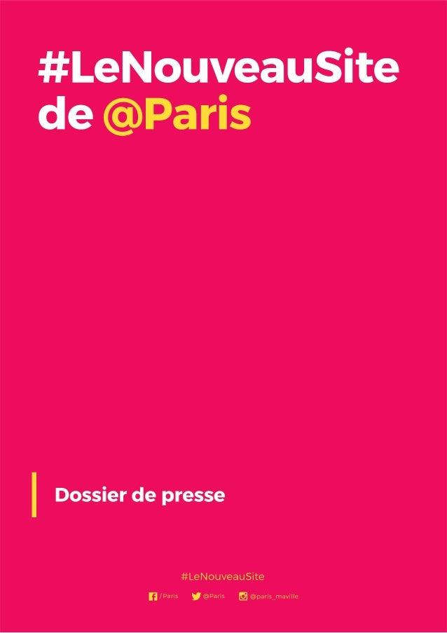Le nouveau Paris.fr, c'est un site qui a été pensé et construit pour les Parisiens, pour ceux qui visitent Paris comme pou...