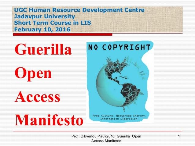 UGC Human Resource Development Centre Jadavpur University Short Term Course in LIS February 10, 2016 Prof. Dibyendu Paul/2...
