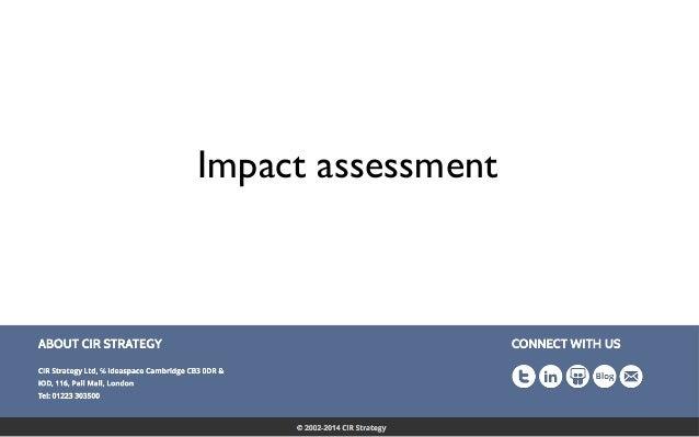 Confidential 36 Impact assessment