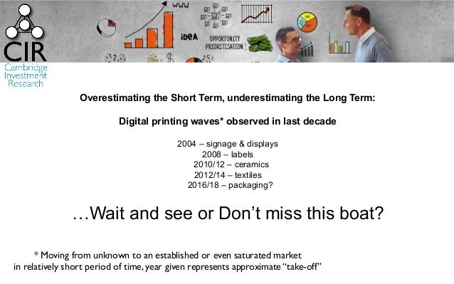 Overestimating the Short Term, underestimating the Long Term: Digital printing waves* observed in last decade 2004 – signa...