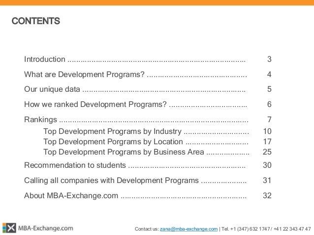 MBA-Exchange.com ¦ MBA Development Programs Report 2015 Slide 2