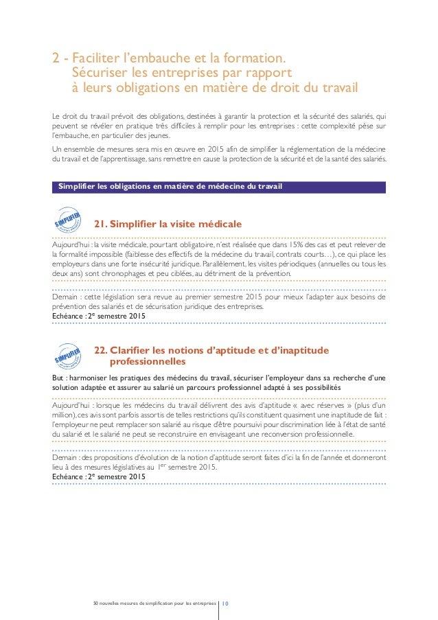 Faciliter le recours à l'apprentissage  23. Faciliter les conditions d'emploi des apprentis  Aujourd'hui : la réglementati...