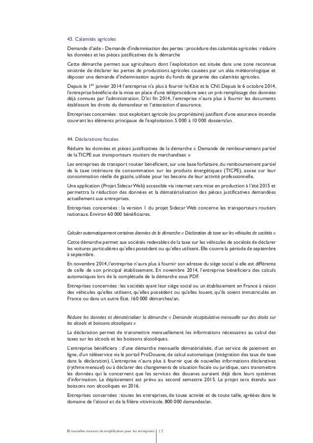 Réduire les données et les pièces justificatives demandées et déployer une télé déclaration DTI de la  démarche «Taxe spéc...