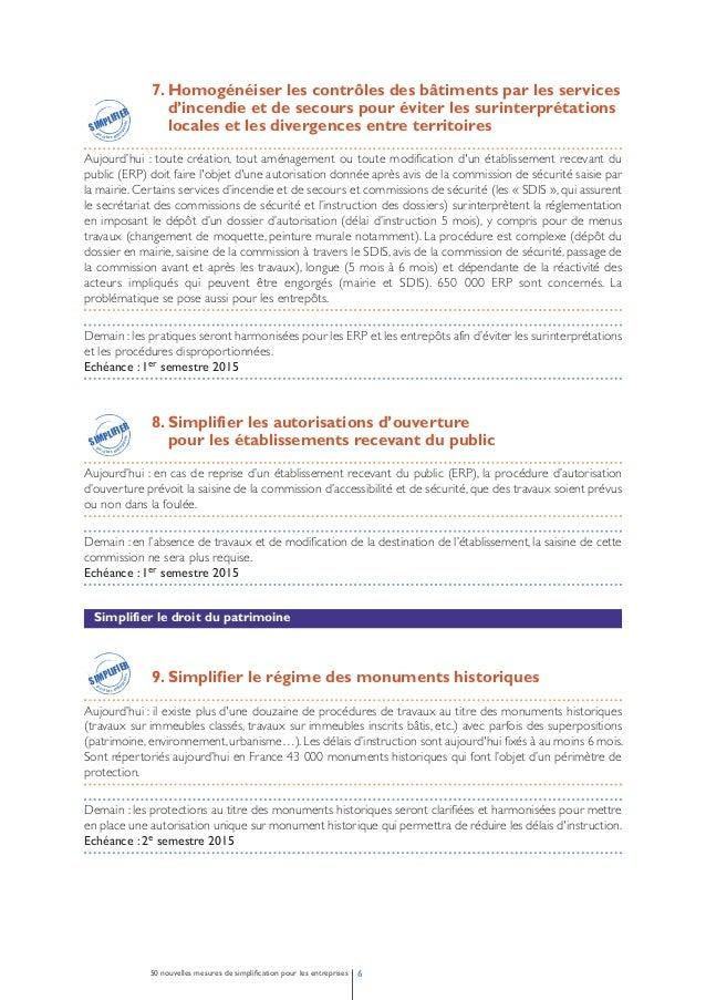 10. Simplifier le régime des espaces protégés  au titre du droit du patrimoine  Aujourd'hui : la complexité actuelle résul...