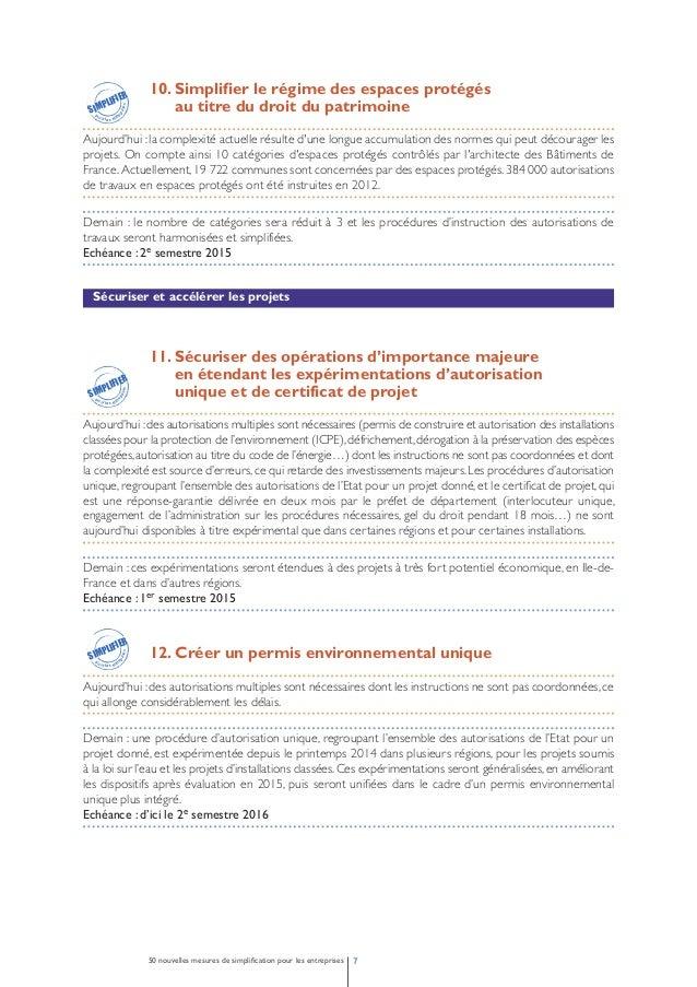 13.Allonger la durée de validité des autorisations  pour les projets d'énergie renouvelable  Aujourd'hui : le retard fréqu...