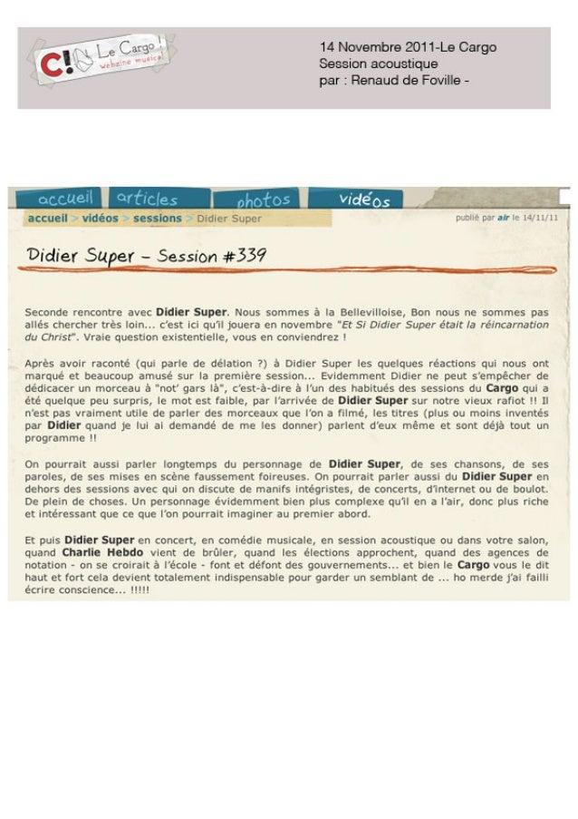 Didier Super - Comedie Paris Belleviloise Slide 2