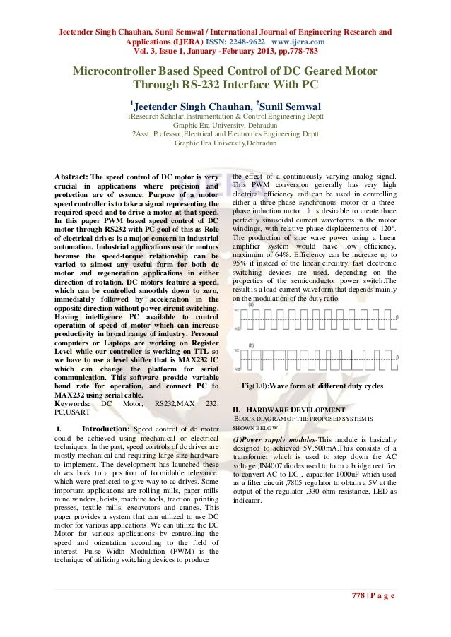 Jeetender Singh Chauhan, Sunil Semwal / International Journal of Engineering Research and                  Applications (I...