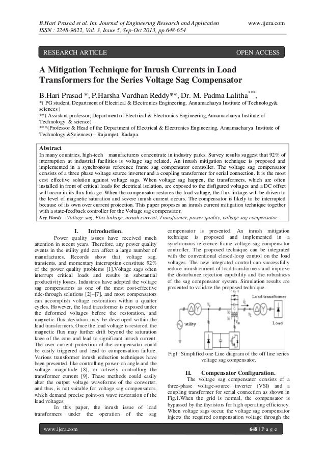 B.Hari Prasad et al. Int. Journal of Engineering Research and Application ISSN : 2248-9622, Vol. 3, Issue 5, Sep-Oct 2013,...