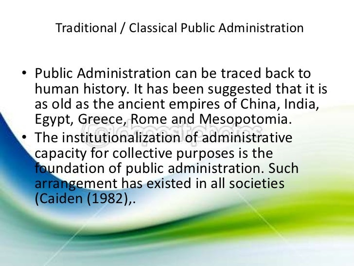 classical public administration