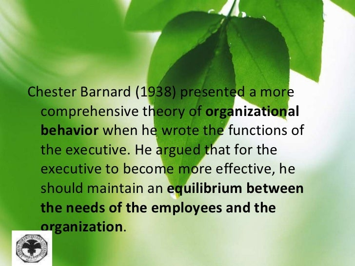 chester barnard economy incentives Start studying man3240 w1 what is organizational behavior quiz learn vocabulary, terms, and more with flashcards chester i barnard proposed that _ was preferable to _ persuasion economic incentives what errors can undermine ethics efforts omission errors.