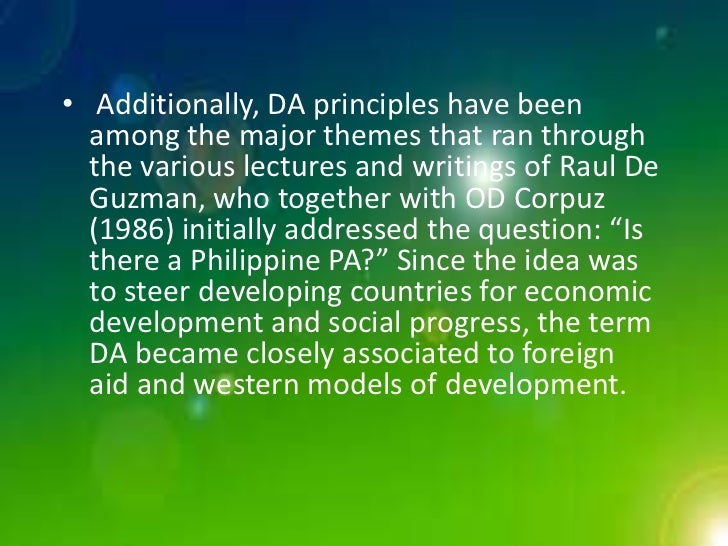 is there a philippine public administration by onofre d corpuz Book review the bureaucracy in the philippines dr onofre d corpuz bureaucracy in the philippines to the study of public administration.