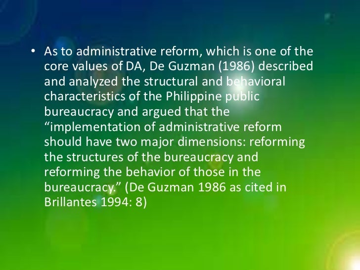 """is there a philippine public administration by onofre d corpuz It established a centralized system of administration in the philippines """"for purposes of consolidating its empire"""" (d reyes, p 42 19_public_administpdf) and solely control all the power and gains accrued from the colony."""