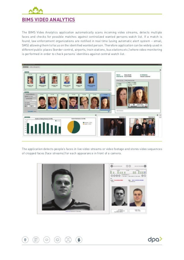 The BIMS Video Analytics runs on Cognitec's FaceVACS-VideoScan software which provides a few very commercially significant...