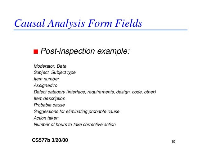 Dp and causal analysis guideline