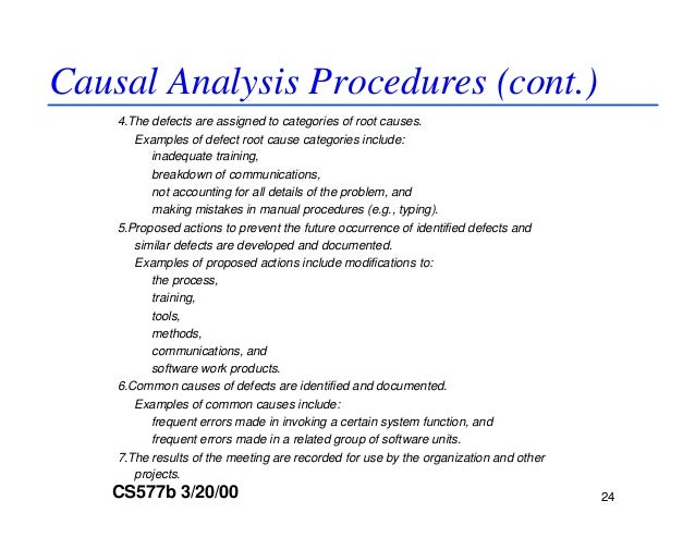 dp and causal analysis guideline causal analysis procedures