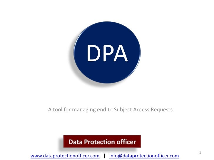 DPA        A tool for managing end to Subject Access Requests.                                                            ...