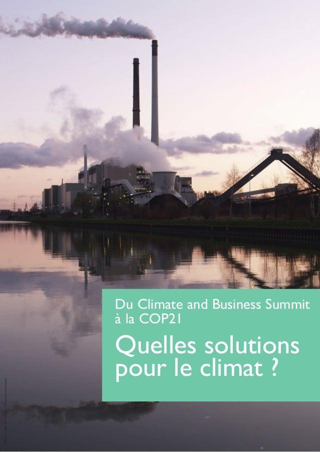 Du Climate and Business Summit à la COP21 Quelles solutions pour le climat ? PhotoCredit:ArnoldPaul|WikimediaCommons