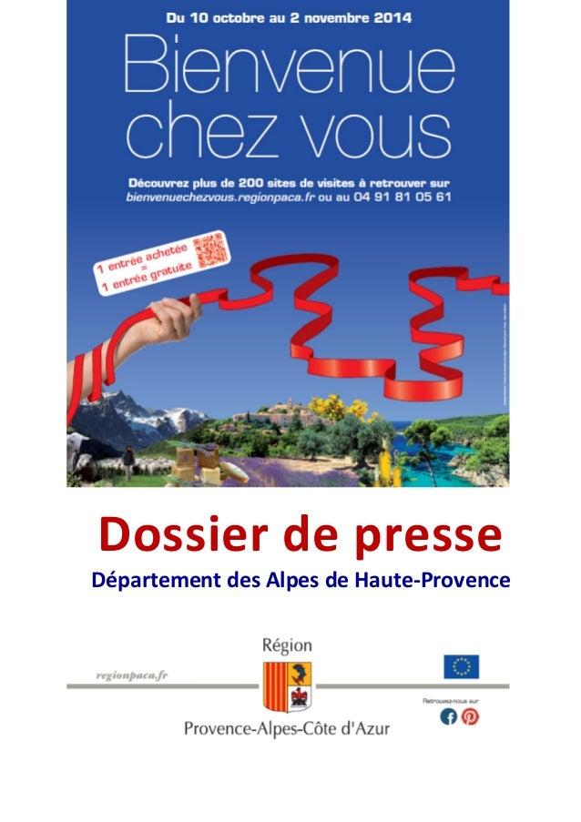 Dossier de presse  Département des Alpes de Haute-Provence
