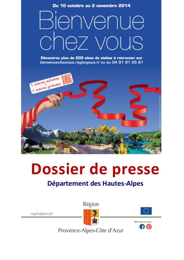 Dossier de presse  Département des Hautes-Alpes