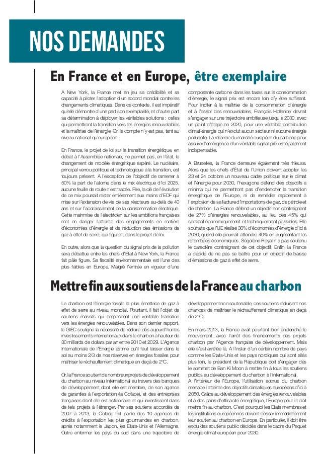 A New York, la France met en jeu sa crédibilité et sa capacité à piloter l'adoption d'un accord mondial contre les changem...