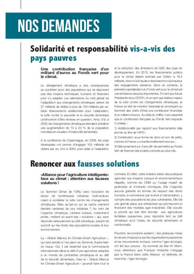 Une contribution française d'un milliard d'euros au Fonds vert pour le climat.  Le dérèglement climatique a des conséquenc...