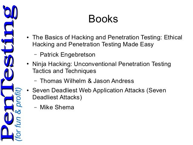 Ninja hacking unconventional penetration testing