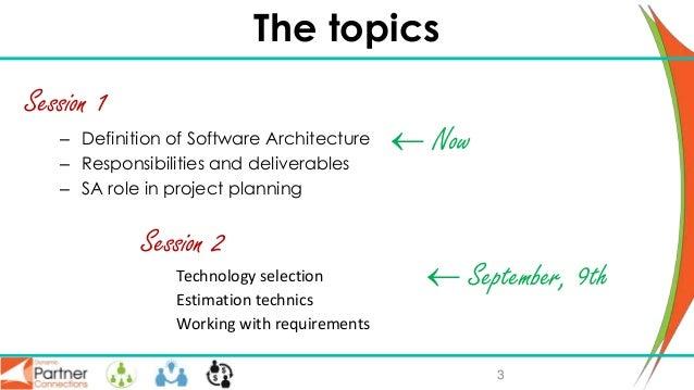 ERP solution architect role, part I Slide 3