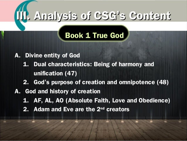 God the Creator of Heaven and Earth