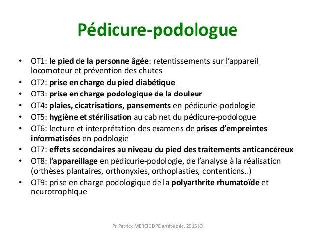 Pédicure-podologue • OT1: le pied de la personne âgée: retentissements sur l'appareil locomoteur et prévention des chutes ...