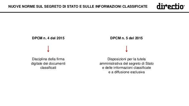 Nuove norme sul segreto di stato e sulle informazioni for Informazioni sul permesso di soggiorno