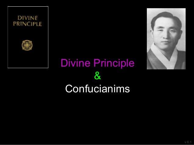 Divine Principle & Confucianims v 6.1