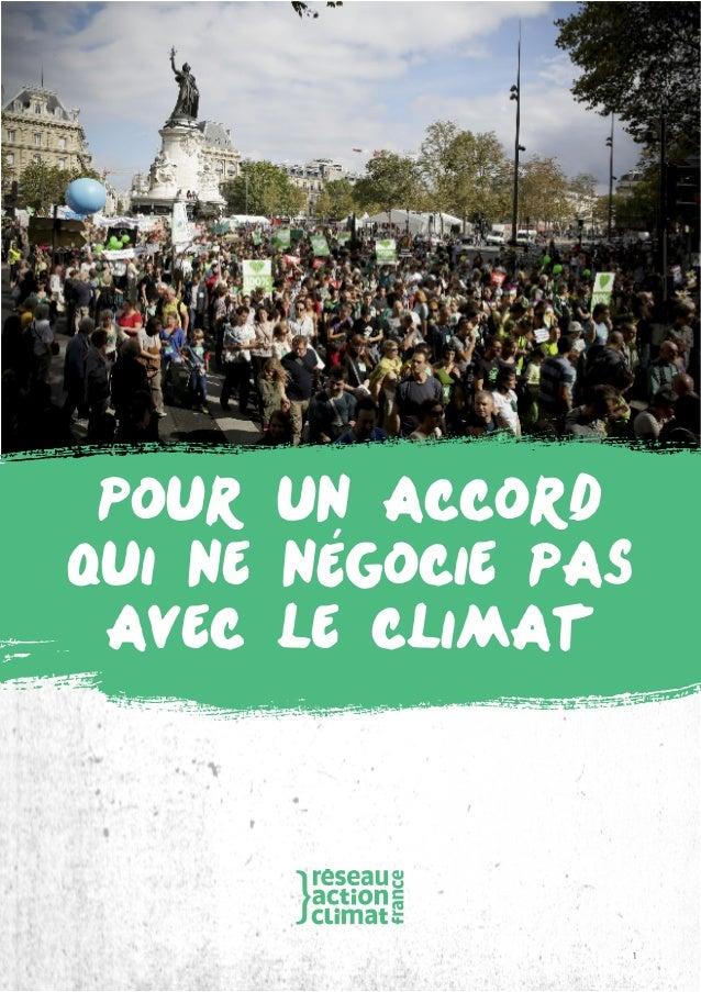 1 Pour un accord qui ne négocie pas avec le climat