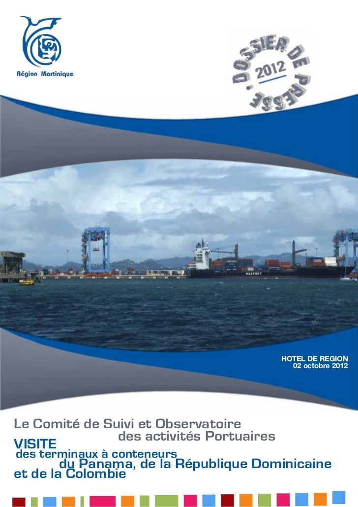 HOTEL DE REGION                                     02 octobre 2012Le Comité de Suivi et Observatoire                 des ...