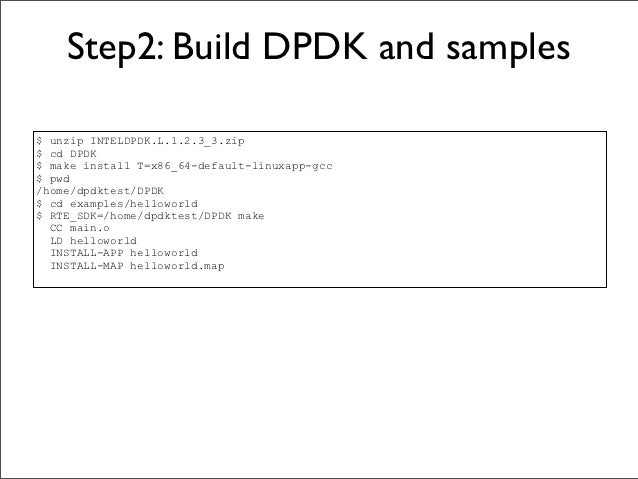 Intel DPDK Step by Step instructions