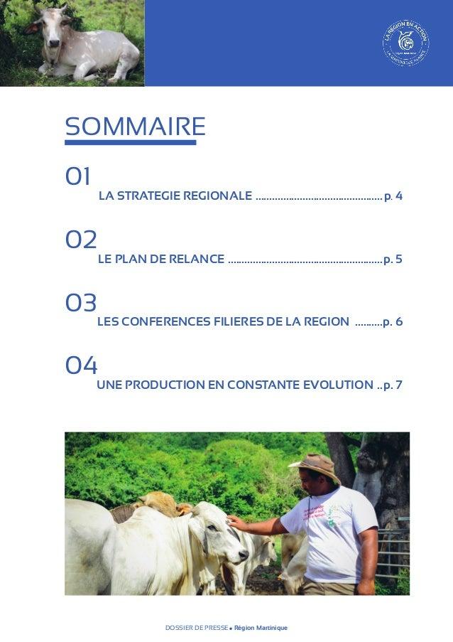 SOMMAIRE 01   02   LA STRATEGIE REGIONALE ............................................... p. 4  LE PLAN DE RELANCE .......