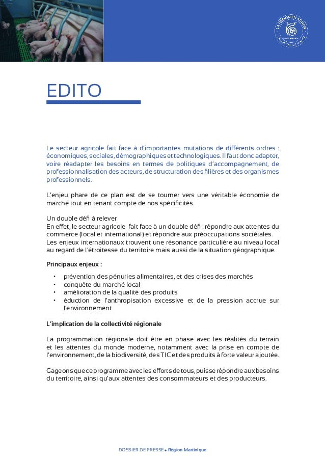 EDITO Le secteur agricole fait face à d'importantes mutations de différents ordres : économiques, sociales, démographique...