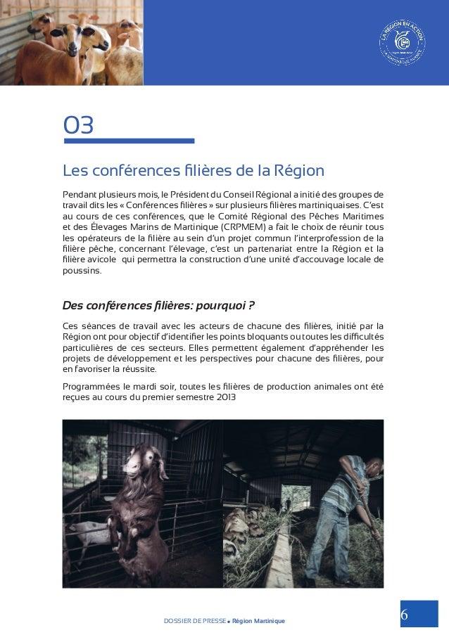 03 Les conférences filières de la Région Pendant plusieurs mois, le Président du Conseil Régional a initié des groupes de ...