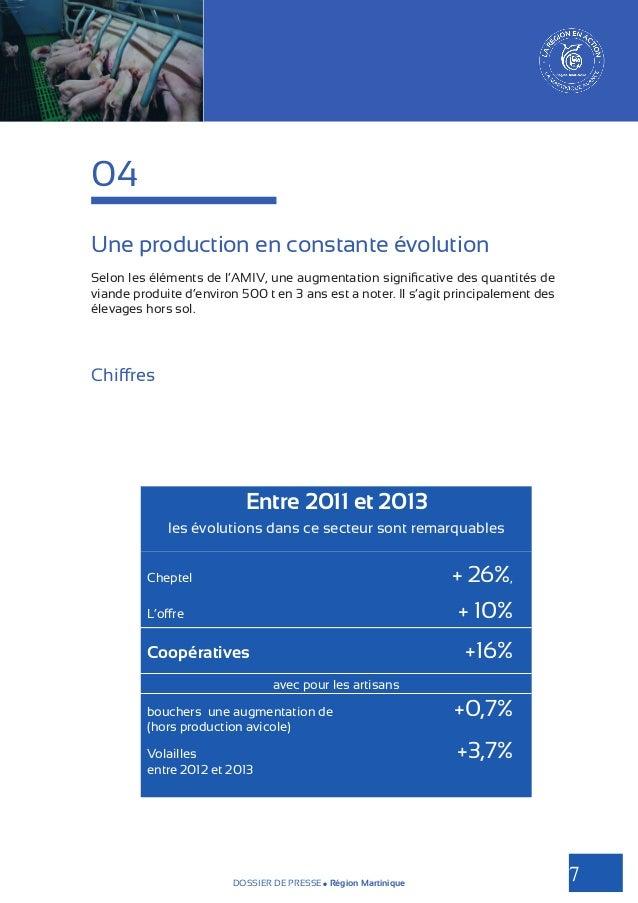 04 Une production en constante évolution Selon les éléments de l'AMIV, une augmentation significative des quantités de via...