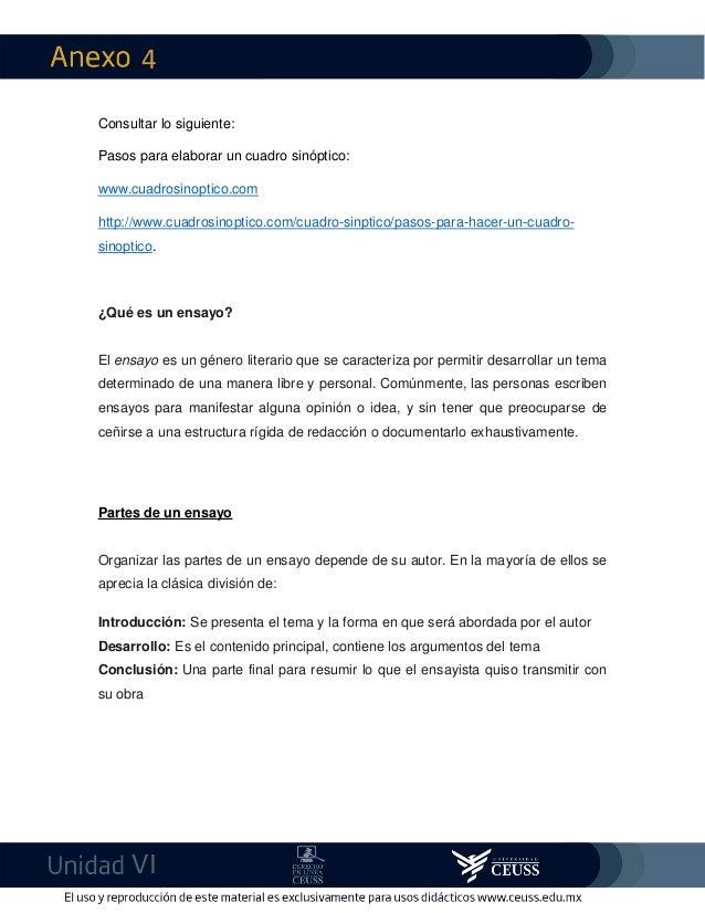 4 VI Consultar lo siguiente: Pasos para elaborar un cuadro sinóptico: www.cuadrosinoptico.com http://www.cuadrosinoptico.c...