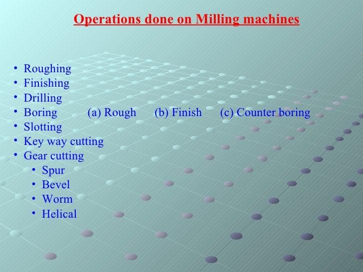 <ul><li>Roughing </li></ul><ul><li>Finishing </li></ul><ul><li>Drilling </li></ul><ul><li>Boring  (a) Rough  (b) Finish  (...