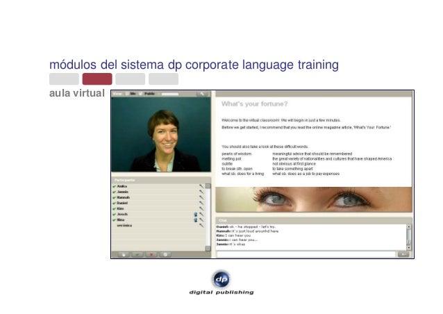módulos del sistema dp corporate language training aula virtual